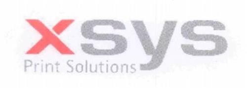 XSYS PRINT SOLUTIONS