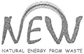 NEW NATURAL ENERGY FROM WASTE