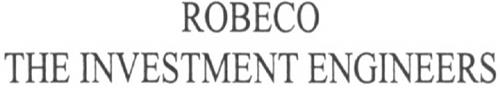 ROBECO THE INVESTMENT ENGINEERS