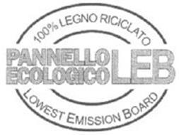 PANELLO EOLOGICO LEB 100% LEGNO RICICLATO LOWEST EMISSION BOARD