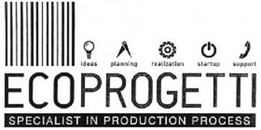 ECOPROGETTI SPECIALIST IN PRODUCTION PROCESS IDEAS PLANNING REALIZATION STARTUP SUPPORT