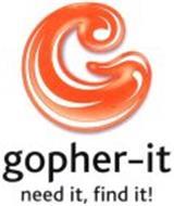 GOPHER-IT NEED IT, FIND IT!