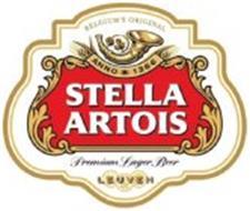 BELGIUM'S ORIGINAL ANNO 1366 STELLA ARTOIS PREMIUM LAGER BEER LEUVEN
