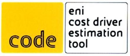 CODE ENI COST DRIVER ESTIMATION TOOL