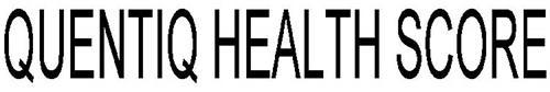 QUENTIQ HEALTH SCORE