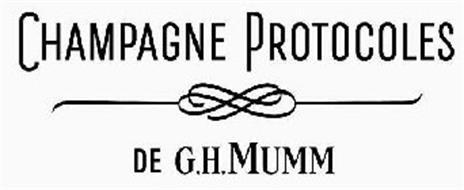 CHAMPAGNE PROTOCOLES DE G.H.MUMM