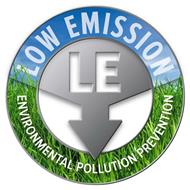 LOW EMISSION LE ENVIRONMENTAL POLLUTIONPREVENTION