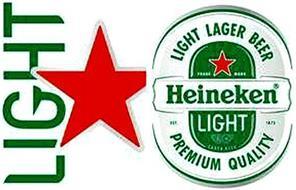 HEINEKEN LIGHT LIGHT LAGER BEER PREMIUM QUALITY