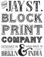 THE JAY ST. BLOCK PRINT COMPANY DESIGNED IN BRKLN & HAND MADE IN INDIA