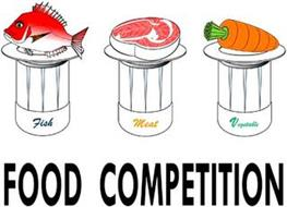 FOOD COMPETITION FISH MEAT VEGETABLE