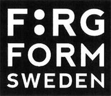 F:RG FORM SWEDEN