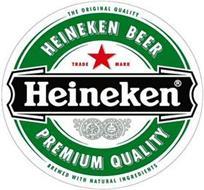 THE ORIGINAL QUALITY HEINEKEN BEER TRADE MARK HEINEKEN PREMIUM QUALITY BREWED WITH NATURAL INGREDIENTS