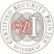 CERTIFIED SECURITY PRINTER INTERGRAF CSPI