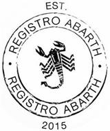 REGISTRO ABARTH EST. 2015