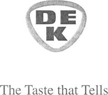 DEK THE TASTE THAT TELLS