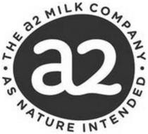 A TWO · THE A2 MILK COMPANY · AS NATURE INTENDED