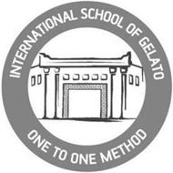 INTERNATIONAL SCHOOL OF GELATO ONE TO ONE METHOD