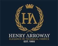 HA HENRY ARROWAY ELEGANCE IN TECHNICAL FABRICS EST. 1995