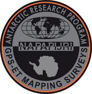 NAPAPIJRI ANTARCTIC RESEARCH PROGRAM GPS-ET MAPPING SURVEYS