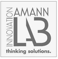 AMANN INNOVATION LAB THINKING SOLUTIONS.