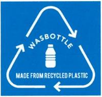 WASBOTTLE MADE FROM RECYCLED PLASTIC
