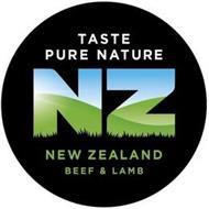 TASTE PURE NATURE NZ NEW ZEALAND BEEF &LAMB