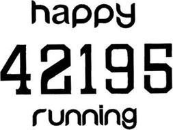 HAPPY RUNNING 42195