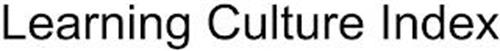 LEARNING CULTURE INDEX
