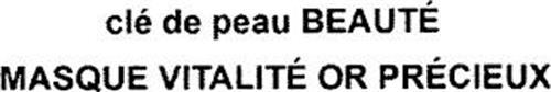 CLÉ DE PEAU BEAUTÉ MASQUE VITALITÉ OR PRÉCIEUX