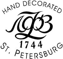 HAND DECORATED 1744 ST. PETERSBURG