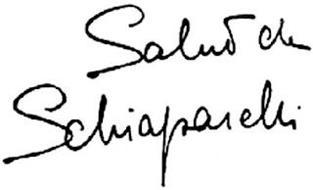 SALUT DE SCHIAPARELLI