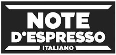NOTE D'ESPRESSO ITALIANO