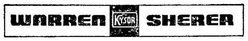 WARREN KYSOR SHERER