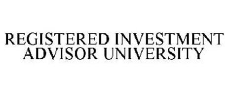 REGISTERED INVESTMENT ADVISOR UNIVERSITY