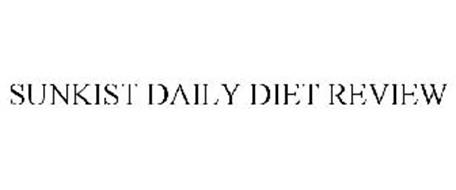 SUNKIST DAILY DIET REVIEW