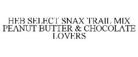 HEB SELECT SNAX TRAIL MIX PEANUT BUTTER & CHOCOLATE LOVERS