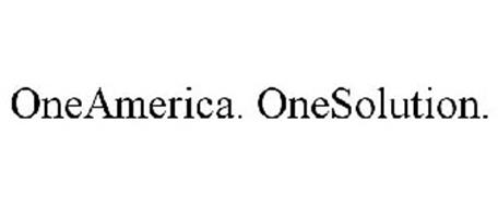 ONEAMERICA. ONESOLUTION.