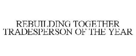 REBUILDING TOGETHER TRADESPERSON OF THE YEAR