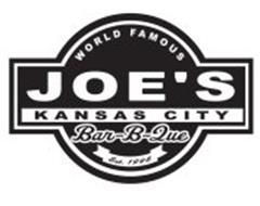 WORLD FAMOUS JOE'S KANSAS CITY BAR-B-QUE EST. 1996