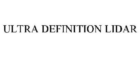 ULTRA DEFINITION LIDAR