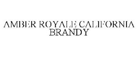 AMBER ROYALE CALIFORNIA BRANDY
