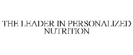 THE LEADER IN PERSONALIZED NUTRITION