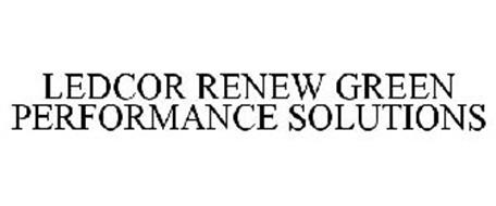 LEDCOR RENEW GREEN PERFORMANCE SOLUTIONS