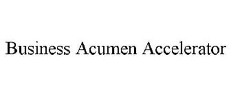 BUSINESS ACUMEN ACCELERATOR