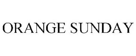 ORANGE SUNDAY