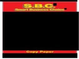 S.B.C. SMART BUSINESS CHOICE COPY PAPER