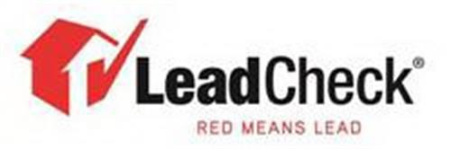 LEADCHECK RED MEANS LEAD