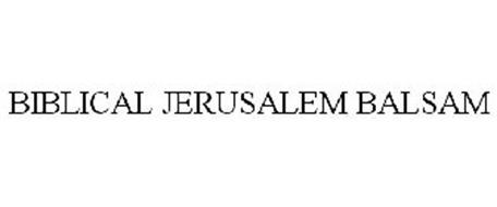 BIBLICAL JERUSALEM BALSAM