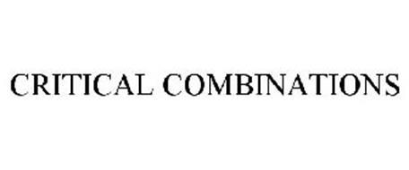 CRITICAL COMBINATIONS