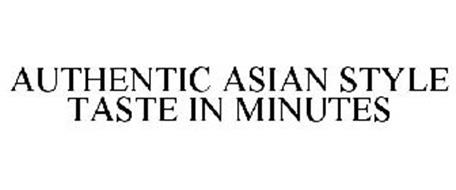 AUTHENTIC ASIAN STYLE TASTE IN MINUTES